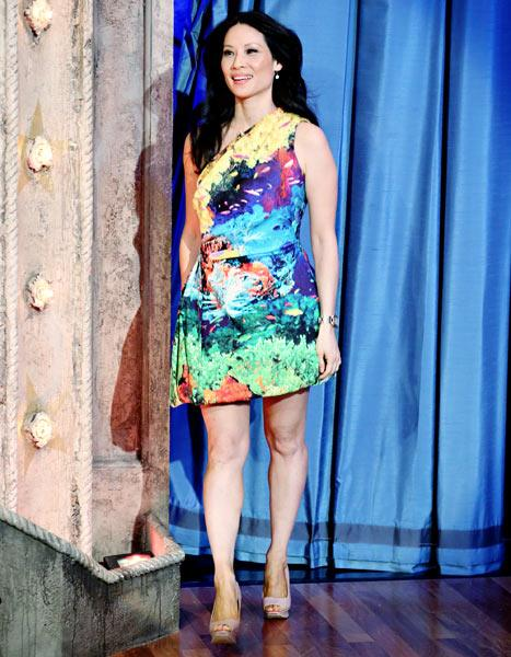 Write a Fashion Police Caption for Lucy Liu
