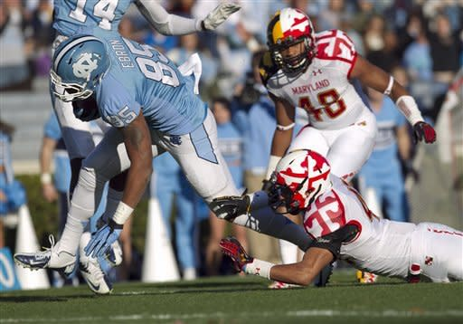 North Carolina beats Maryland 45-38 to end season