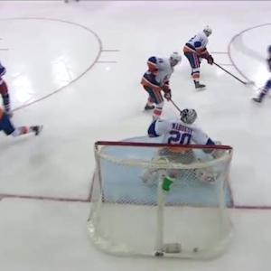 Derek Stepan buries the bouncing puck