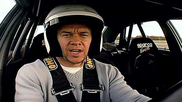 "Mark Wahlberg on the <a href=""/baselineshow/4742776"">""Top Gear""</a> driving track. Top Gear (NBC)"