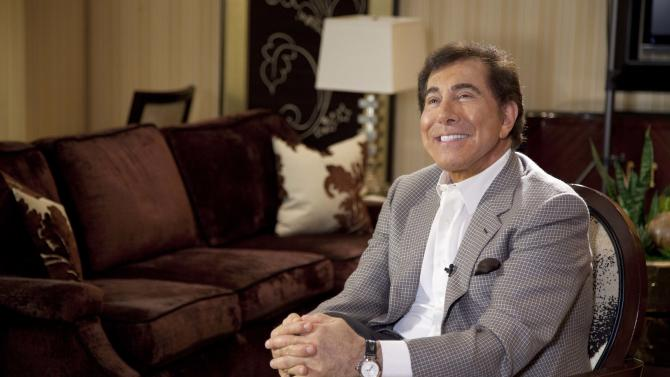 FILE - In this April 27, 2011 file photo, Steve Wynn is interviewed in Las Vegas. Wynn was revealed as the Las Vegas casino owner who donated an anonymous gift of $500 each to 4,000 southern Nevada families in recent months. The $2 million gift to the United Way of Southern Nevada was the charitable organization's largest donation to date, and for months, guessing the identity of the donor became a popular pastime in Las Vegas. (AP Photo/Julie Jacobson, File)