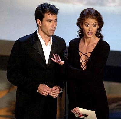 Eric McCormack and Debra Messing Emmy Awards - 9/22/2002
