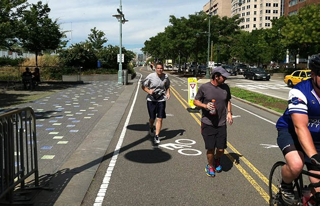 Frank Del Vecchio (left) trains for his run (photo: Run For Hope Foundation)
