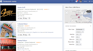 Facebook Graph Search – A First Glance image Restaurants Nearby FB