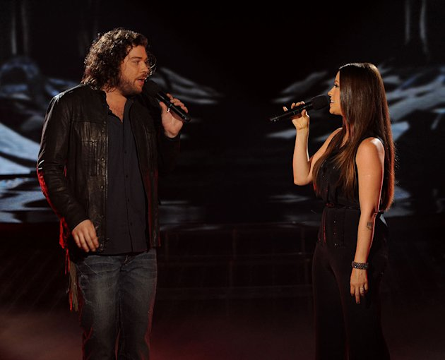 "Josh Krajcik and Alanis Morissette perform ""Uninvited"" on ""The X Factor."""