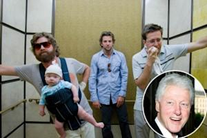"""Zach Galifianakis, Bradley Cooper and Ed Helms in """"The Hangover"""" / Bill Clinton -- Warner Bros."""