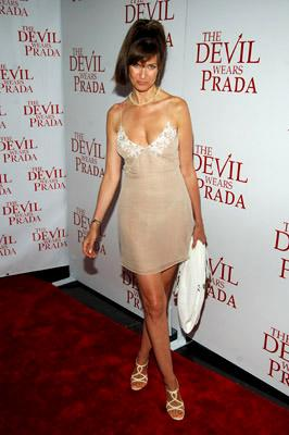 Carol Alt at the NY premiere of 20th Century Fox's The Devil Wears Prada