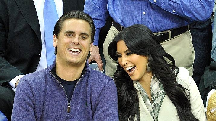 Disick K Ardashian NJ Nets Game