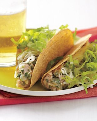 We swear we didn't lick the shells of these Tangy Cilantro Chicken Tacos.