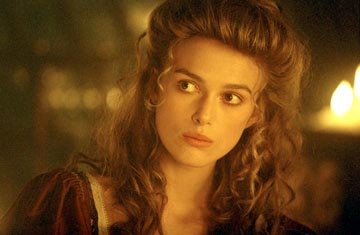 Keira Knightley of Walt Disney's Pirates Of The Caribbean: The Curse of the Black Pearl