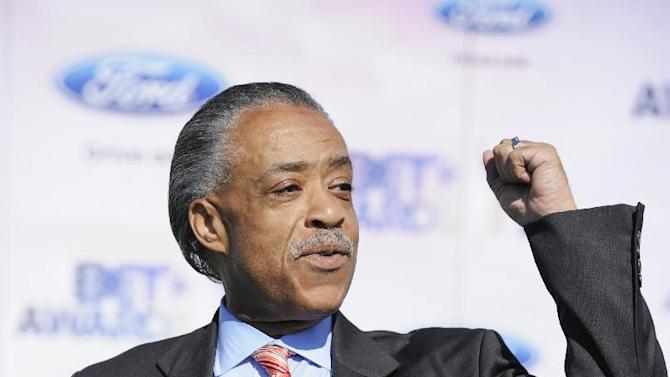 """FILE - In this June 26, 2011 file photo, the Rev. Al Sharpton arrives at the BET Awards in Los Angeles. MSNBC has named the Rev. Al Sharpton as host of a weeknight program on the network. His new program, to be called """"PoliticsNation,"""" will premiere next Monday. (AP Photo/Chris Pizzello, file)"""