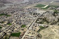 This file photo shows an aerial view of Miranshah, the main town in North Waziristan, pictured in 2006. A US drone strike targeting a militant compound east of Miranshah killed 15 insurgents in a pre-dawn attack on Monday, according to security officials