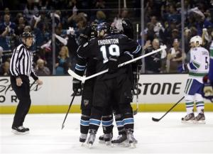 Sharks take 3-0 series lead by beating Canucks 5-2