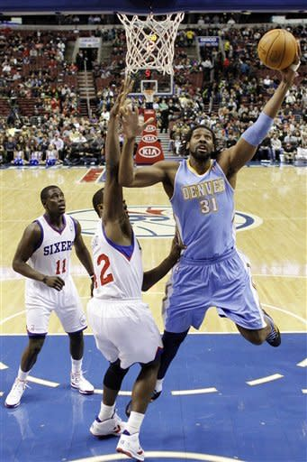 Miller leads Nuggets over 76ers in OT