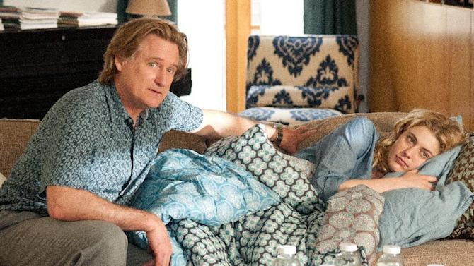 """This undated film image released by Fox Searchlight shows Bill Pullman, left, and Greta Gerwig in a scene from """"Lola Versus."""" (AP Photo/Fox Searchlight, Myles Aronowitz)"""