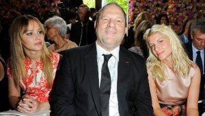 'Hunger Games' Jennifer Lawrence Joins Harvey Weinstein at Raf Simons' Dior Show