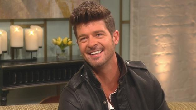 Robin Thicke visits Access Hollywood Live on June 6, 2012 -- Access Hollywood