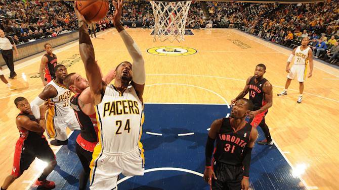 Pacers win 3rd in row, beating Raptors 86-79