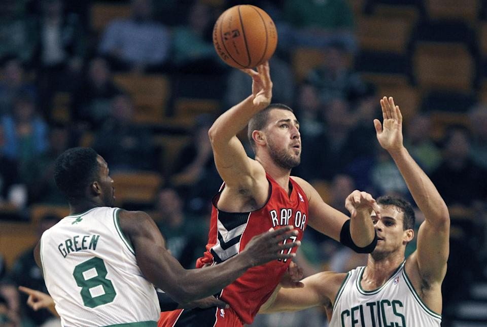 Gay leads Raptors as Celtics' Stevens loses debut