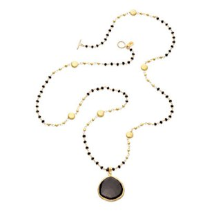 Onyx Mykonos Pendant by Coralia Leets