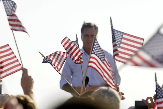 Republican presidential candidate, former Massachusetts Gov. Mitt Romney speaks to supporters at the Holland State Park beach Tuesday, June 19, 2012. (AP Photo/The Grand Rapids Press,Chris Clark )