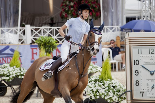 Charlotte Casiraghi at the International Jumping of Montecarlo