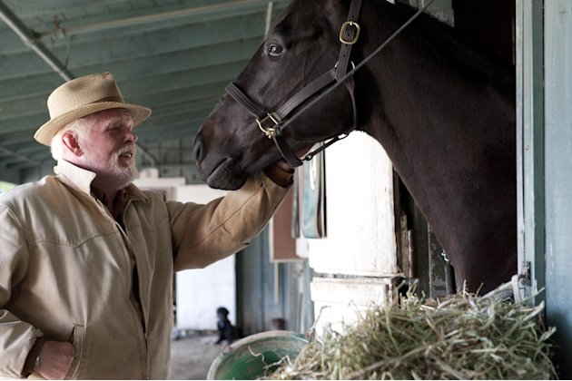 "In this undated image provided by HBO, Nick Nolte appears in a scene from the HBO original series ""Luck."" The sport of horse racing is determined to endure the inevitable deaths of its injury-prone an"