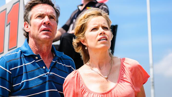 """This film publicity image released by Sony Pictures Classics shows, Dennis Quaid, left, and Kim Dickens in a scene from """"At Any Price.""""  (AP Photo/Sony Pictures Classics, Hooman Bahrani)"""