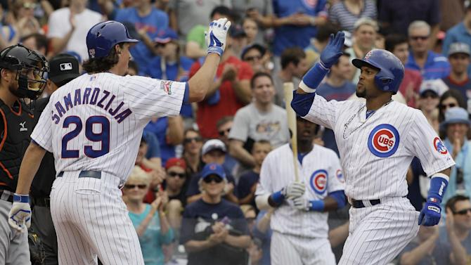 Lake 2 HRs, Cubs beat Marlins 5-2, win 5th in row