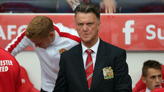 Manchester United's Dutch manager Louis van attends the match against Sunderland at The Stadium of Light in Sunderland, north-east England on August 24, 2014