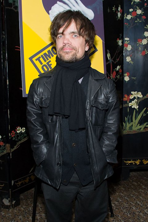 "Peter Dinklage attends the opening night of ""Timon of Athens"" at the Chinatown Brasserie on March 1, 2011 in New York City."