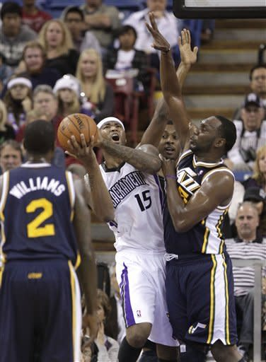 Evans, Kings bounce back to beat Jazz