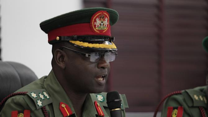 Brigadier General Musa Sani Yusuf, Chairman of the board of the General Court-martial, speak at the opening session of the general court-martial session in Abuja