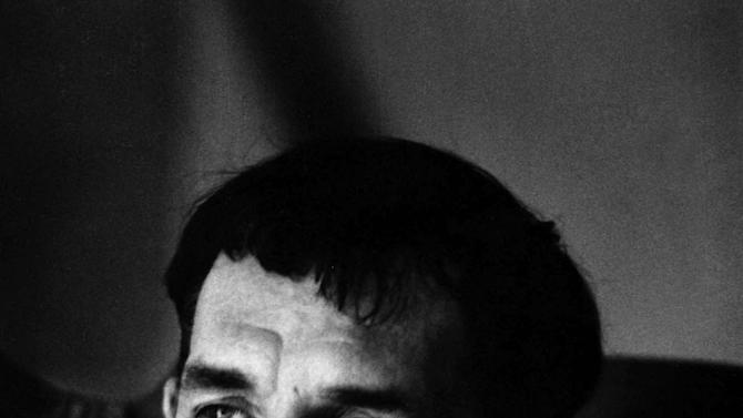 """FILE - In this 1967 file photo, author Jack Kerouac is shown in Lowell, Mass. Kerouac's only full-length play will be staged for the first time this fall. Merrimack Repertory Theatre and the University of Massachusetts Lowell is producing a three-act play called """"Beat Generation"""" in the novelist's hometown of Lowell, Mass.  Kerouac died in 1969. (AP Photo/Stanley Twardowicz, File)"""
