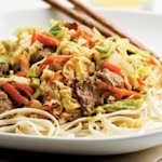 Beef &amp;amp; Cabbage Stir-Fry with Peanut Sauce