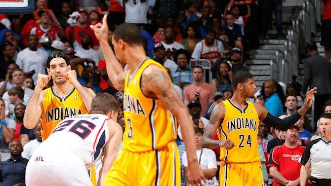 Pacers even series with Hawks, winning 91-88