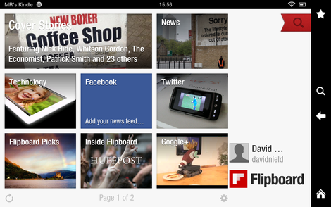 01 Flipboard, turning your feeds into a digital magazine.