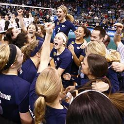 BYU Volleyball in NCAA National Championship
