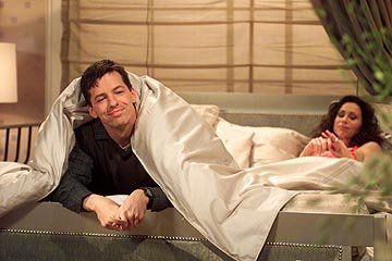 Sean Hayes and Minnie Driver on NBC's Will and Grace 