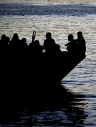 &lt;p&gt;A boat carring Tunisian migrants enters the port of Lampedusa in 2011. Eritrean Abbes Settou, the sole survivor among some 50 migrants who died of hunger and thirst after their inflatable boat ruptured in the Mediterranean, said Wednesday he had survived &quot;by the grace of God.&quot;&lt;/p&gt;