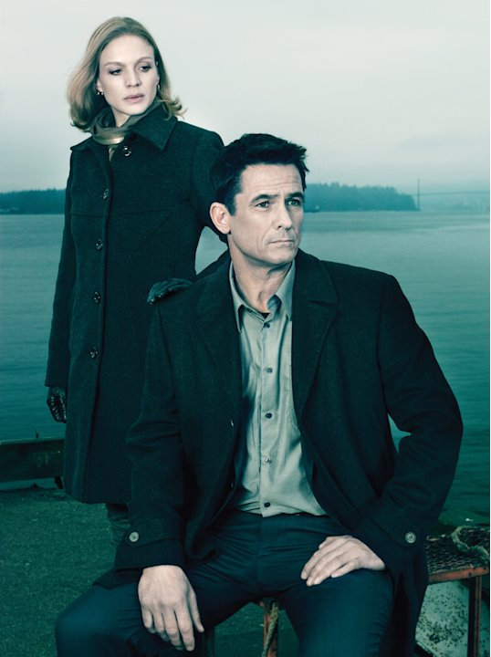 Kristin Lehman as Gwen Eaton and Billy Campbell as Mayoral Candidate Darren Richmond in &quot;The Killing.&quot; 
