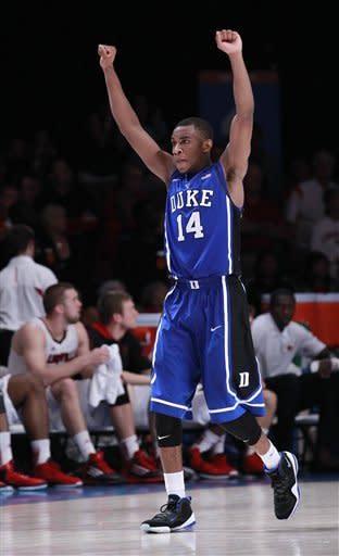No. 5 Duke beats No. 2 Louisville 76-71