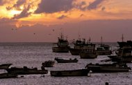 This file illustration photo shows sunset in Puerto Baquerizo Moreno, in the Ecuadorean Galapagos Islands, in 2006. The UN chief on Sunday announced an initiative to protect oceans from pollution and over-fishing and to combat rising sea levels which threaten hundreds of millions of the world's people