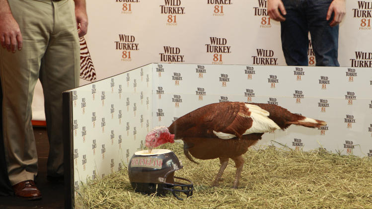 The Wild Turkey Triple Barrel Challenge, on Tuesday, Nov. 20, 2012 in New York. (Photo by Mark Von Holden/Invision for Wild Turkey/AP Images)