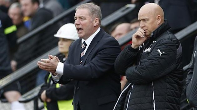 Ally McCoist, left, confirmed he had agreed to accept a pay cut to his salary