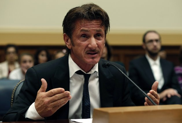 Actor Sean Penn, founder and CEO of the J/P Haitian Relief Organization, testifies on Capitol Hill in Washington