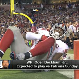 New York Giants rookie wide receiver Odell Beckham expected to play Sunday