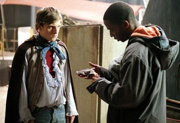 Jamie Bell and Danso Gordon in Wellspring Media's Dear Wendy