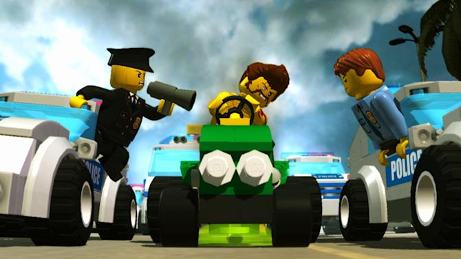 "This publicity photo provided by Nintendo/TT Fusion shows a scene from the video game, ""Lego City Undercover."" (AP Photo/Nintendo/TT Fusion)"