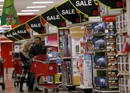 Shoppers take part in Black Friday Shopping at a Target store in Chicago